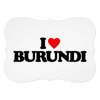 I LOVE BURUNDI PERSONALIZED INVITE