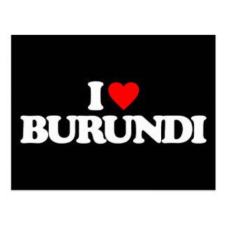 I LOVE BURUNDI POST CARD