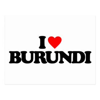 I LOVE BURUNDI POST CARDS