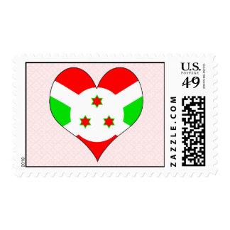 I Love Burundi Postage