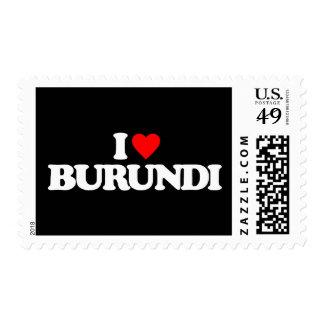 I LOVE BURUNDI POSTAGE STAMP