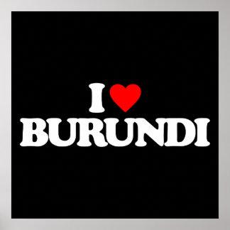 I LOVE BURUNDI POSTERS