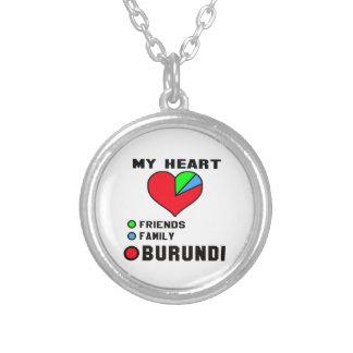I love Burundi. Round Pendant Necklace