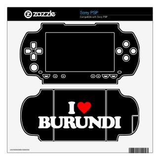 I LOVE BURUNDI SKINS FOR PSP