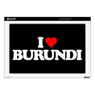 I LOVE BURUNDI LAPTOP SKINS