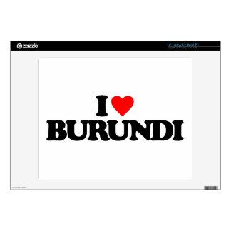 I LOVE BURUNDI LAPTOP DECALS