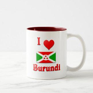 I Love Burundi Two-Tone Coffee Mug