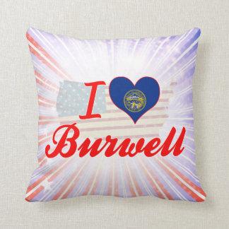 I Love Burwell, Nebraska Pillows