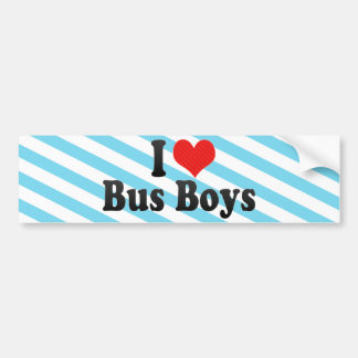 I Love Bus Boys Bumper Stickers