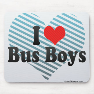 I Love Bus Boys Mouse Pads