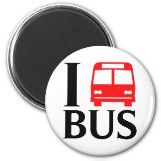 I Love Bus | I Love The Bus | Bus Magnet