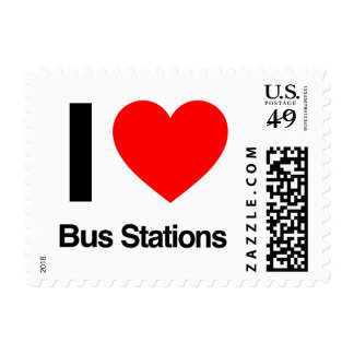 i love bus stations stamp