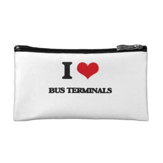 I Love Bus Terminals Cosmetic Bags