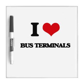 I Love Bus Terminals Dry Erase Whiteboard