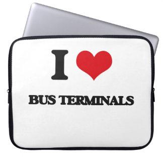 I Love Bus Terminals Laptop Sleeve