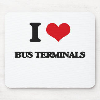 I Love Bus Terminals Mouse Pad