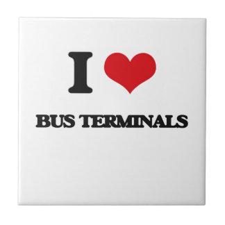 I Love Bus Terminals Ceramic Tile