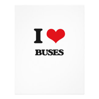I Love Buses Personalized Flyer