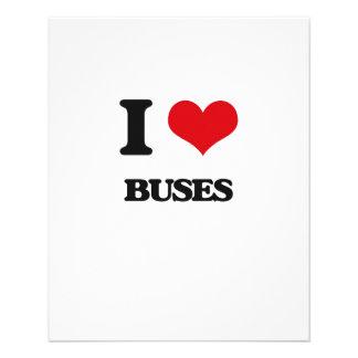 I Love Buses Custom Flyer