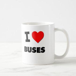 I Love Buses Classic White Coffee Mug