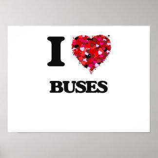 I Love Buses Poster