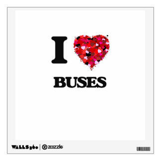 I Love Buses Room Graphic