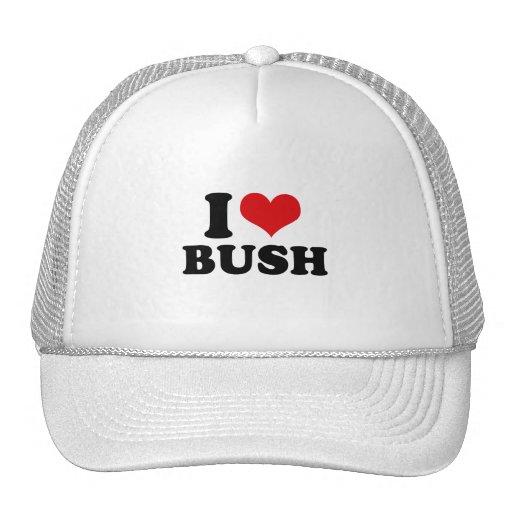 I LOVE BUSH TRUCKER HAT