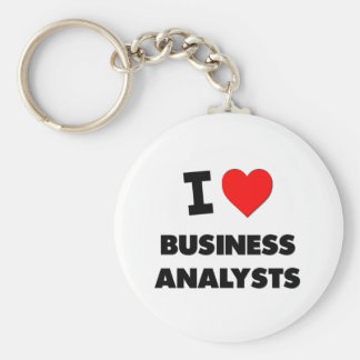 I Love Business Analysts Key Chains