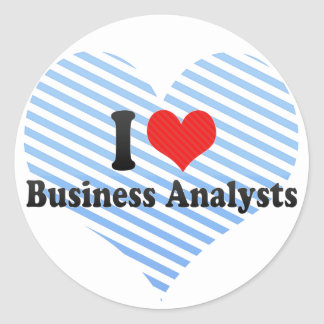 I Love Business Analysts Sticker