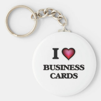 I Love Business Cards Keychain