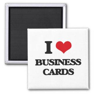 I Love Business Cards Fridge Magnets