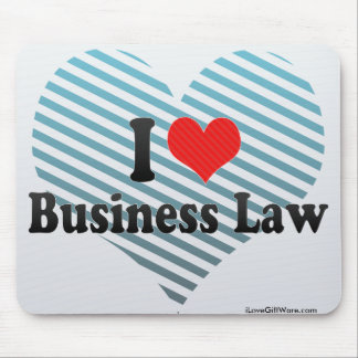I Love Business Law Mousepad