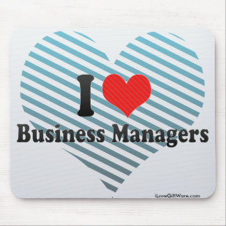 I Love Business Managers Mouse Pads