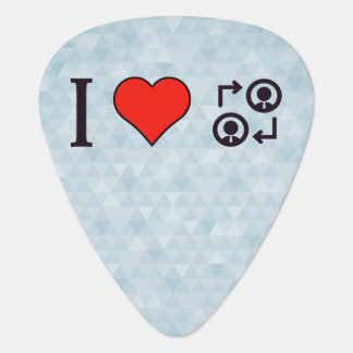 I Love Business People Guitar Pick