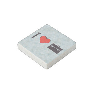 I Love Business People Stone Magnet