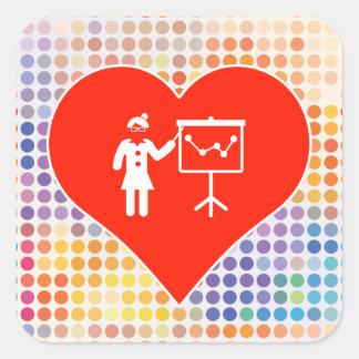 I Love Business Square Sticker