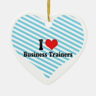 I Love Business Trainers Ornaments