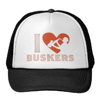 I Love Buskers Sax CAP Trucker Hat