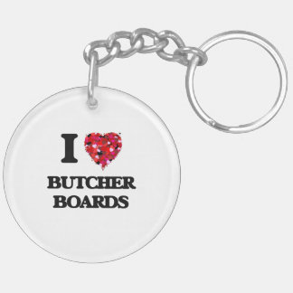 I Love Butcher Boards Double-Sided Round Acrylic Keychain