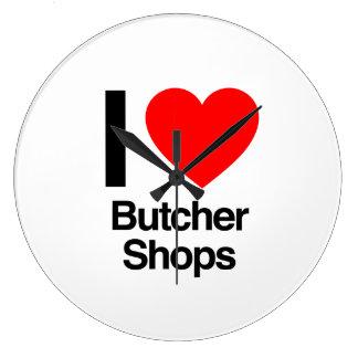 i love butcher shops clocks