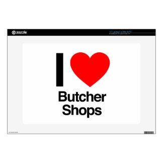 i love butcher shops decal for laptop