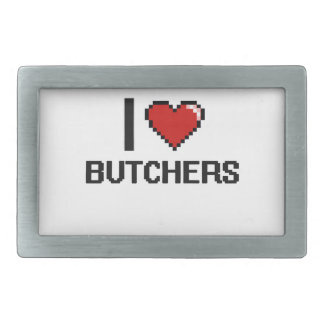 I love Butchers Rectangular Belt Buckles