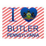 I Love Butler, PA Postcard
