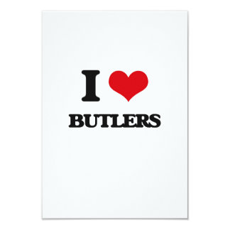 I Love Butlers 3.5x5 Paper Invitation Card