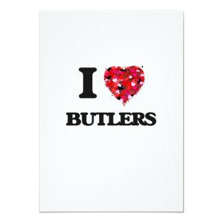 I Love Butlers 5x7 Paper Invitation Card