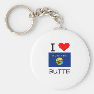 I Love Butte Montana Keychain