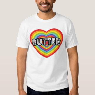 I love Butter: rainbow disco heart T-Shirt