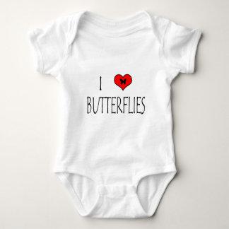 I Love Butterflies Baby Bodysuit