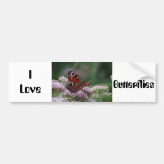 I Love Butterflies Bumper Sticker