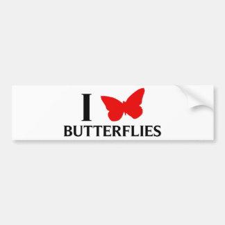 I Love Butterflies Bumper Stickers